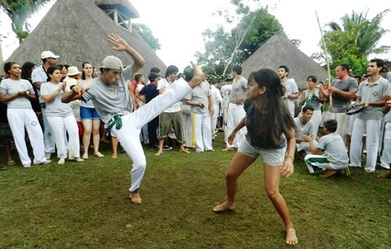 Capoeira in Serra da Barriga on Black Awareness Day