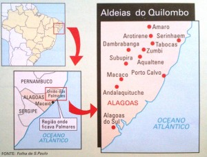 Where was located Quilombo dos Palmares